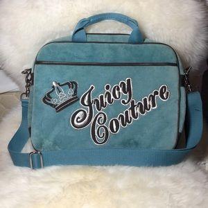 Juicy Couture Blue Velour Laptop Bag